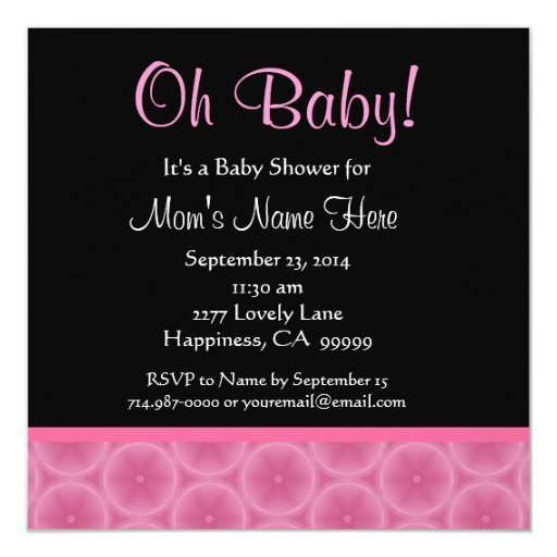 Pink Fruit Slices Baby Shower Personalized Invitation