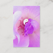 *~*  Pink Fuchia Lavender Violet Rose Floral Business Card