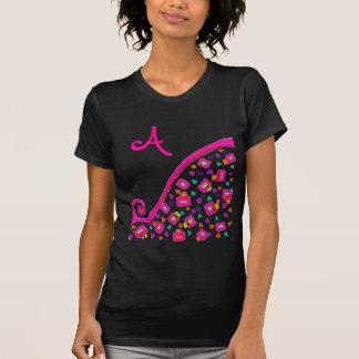 PINK FUCHSIA BLACK ABSTRACT DECO MONOGRAM T-Shirt