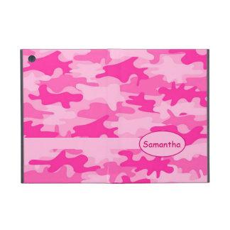 Pink Fuchsia Camo Camouflage Name Personalized iPad Mini Covers