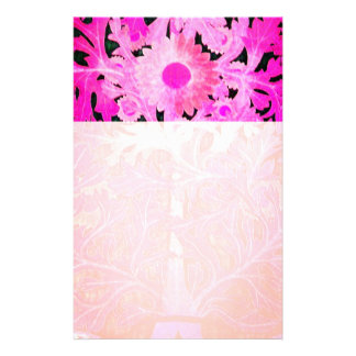 PINK FUCHSIA DAISY ,MARGUERITE Floral Stationery