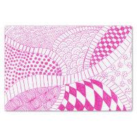 Pink Fuchsia Doodle Tissue Paper