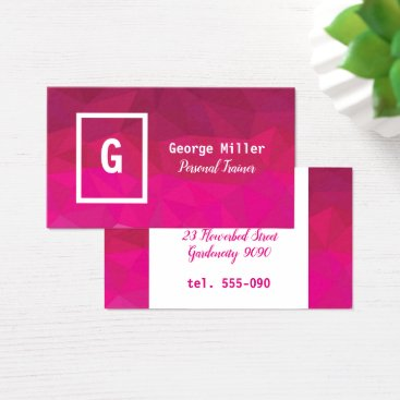 Professional Business Pink fuchsia geometric design business card