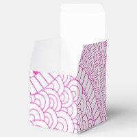 Pink Fuchsia Hand Drawn Zen Doodle Design Favor Box
