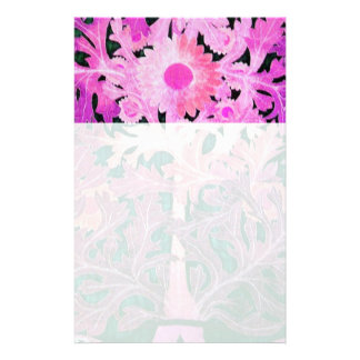 PINK FUCHSIA PURPLE DAISY ,MARGUERITE Floral Stationery
