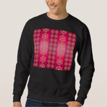 Pink Fuchsia Stripes and Stars Pattern Sweatshirt