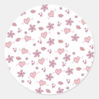 Pink Fun Classic Round Sticker
