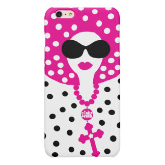 Pink Funk Afro Chick Polka Dot IPhone6 Case