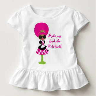 Pink Funk Alicia in Funkland on Toddler Ruffle Tee