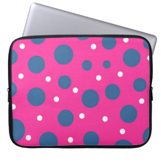 Pink Funky Dots Laptop Sleeve