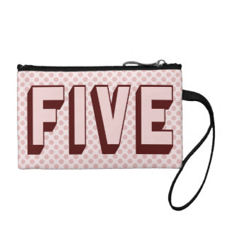 Pink Funky Five Key Coin Clutch