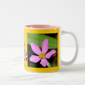Pink Funky Flower Two-Tone Coffee Mug