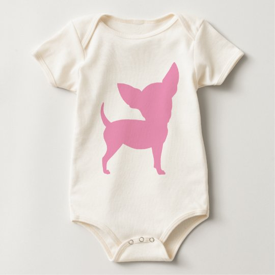 Pink Funny Chihuahua Baby Bodysuit