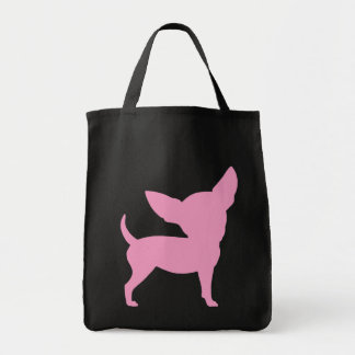 Pink Funny Chihuahua Canvas Bags