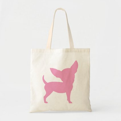 Pink Funny Chihuahua Budget Tote Bag