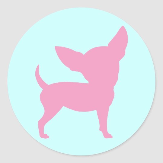 Pink Funny Chihuahua Classic Round Sticker