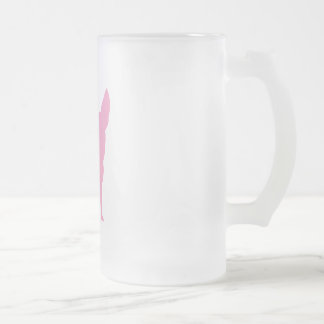 Pink Funny Chihuahua Frosted Glass Beer Mug