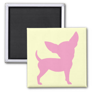 Pink Funny Chihuahua 2 Inch Square Magnet