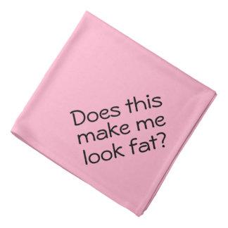 Pink Funny Dog Bandana Does This Make Me Look Fat?