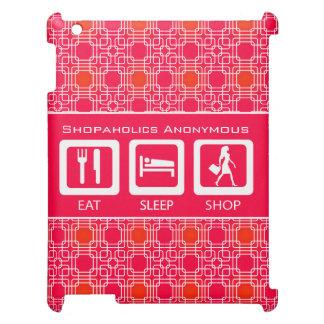 Pink Funny Shopaholic Eat Sleep Shop Award Cover For The iPad
