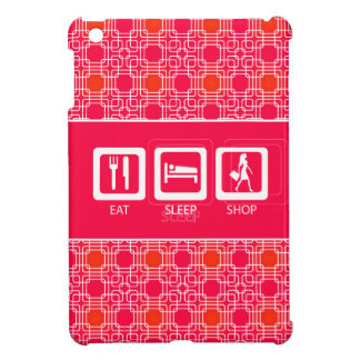 Pink Funny Shopaholic Eat Sleep Shop Award iPad Mini Case