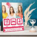Pink Funny Shopaholic Eat Sleep Shop Award Display Plaques