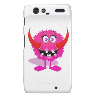 Pink Furry Fluffy Cartoon Monster Droid RAZR Case
