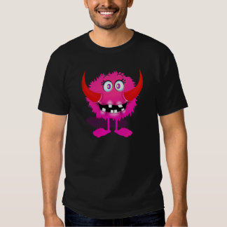 Pink Furry Fluffy Cartoon Monster T-shirt