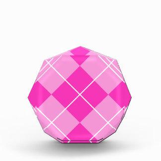 Pink & Fuschia Argyle Award