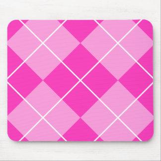 Pink & Fuschia Argyle Mouse Pad