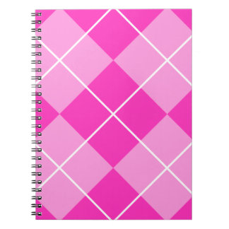 Pink & Fuschia Argyle Spiral Notebook