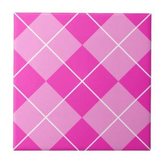 Pink & Fuschia Argyle Tile