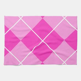 Pink & Fuschia Argyle Towel