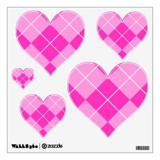 Pink & Fuschia Argyle Wall Sticker