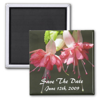 Pink Fuschia Save The Date Magnet