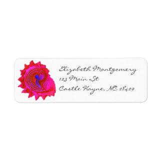 Pink Fuscia Sea Shell Labels