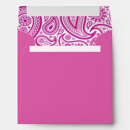 Pink Fushia Floral Pattern Envelope