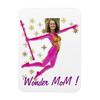 Pink Fushia Wonder Woman, Fairy Wand - Magnet