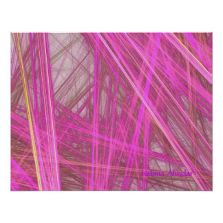 Pink Fushion Sticks Fine Art,  Halima Ahkdar Posters