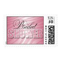 Pink Fusion Zebra Print Bridal Shower Postage