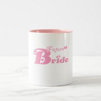Pink Future Bride Two-Tone Coffee Mug