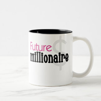 PINK FUTURE MILLIONAIRE Two-Tone COFFEE MUG