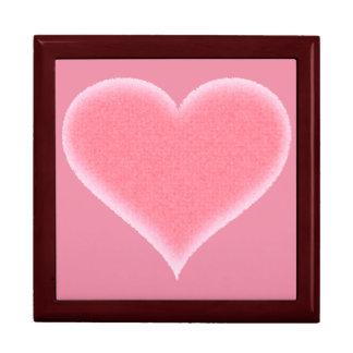 Pink Fuzzy Heart Customizable Gift Box