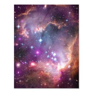 Pink Galaxy Nebula Universe Supernova Stars Night 4.25x5.5 Paper Invitation Card