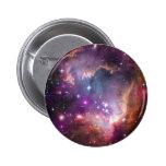 Pink Galaxy Nebula Universe Supernova Stars Night Pinback Button