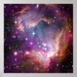 Pink Galaxy Nebula Universe Supernova Stars Night Poster