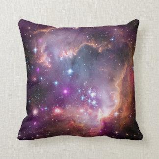 Pink Galaxy Nebula Universe Supernova Stars Night Throw Pillow
