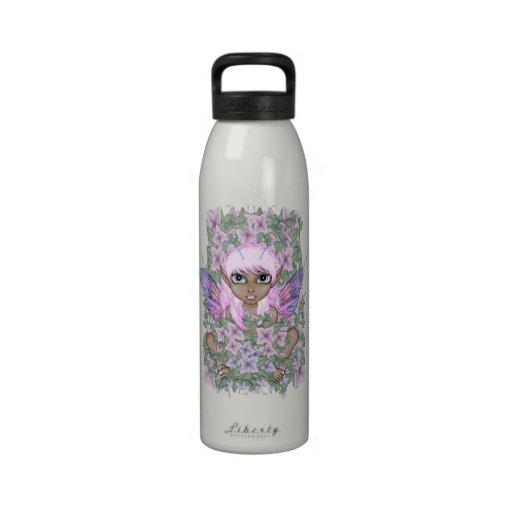 Pink Garden Faerie Water Bottle