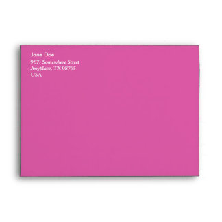 Pink garden flower envelope