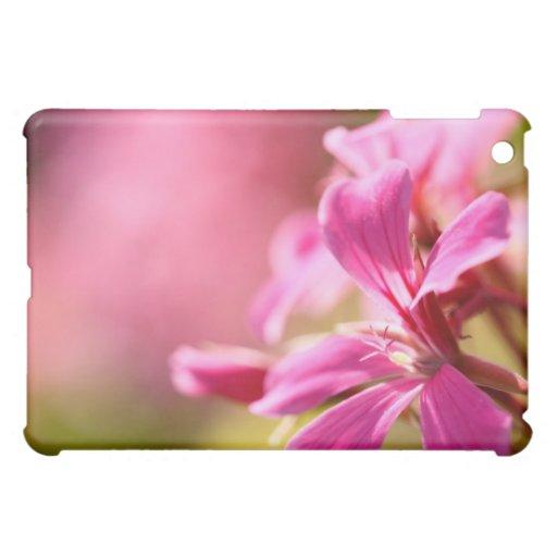 Pink garden flower iPad mini case